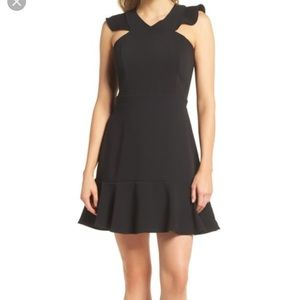 Chelsea28 Ruffle Fit and Flare Dress